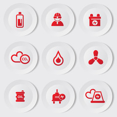 Industry and energy icons,vector