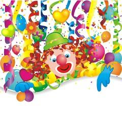 Geburtstagshintergrund mit Clown