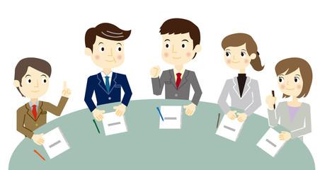 ビジネスチーム ミーティング