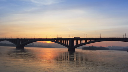 The Bridge Over the Yenisei River, Time Lapse