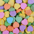 Colorful Hearts background. Sweetheart Candy. Valentines Day
