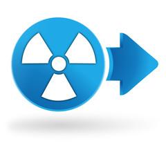 radioactivité sur symbole web bleu