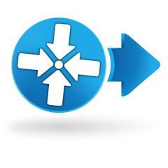 rassemblement sur symbole web bleu