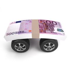 Euro cash on wheels