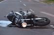 Leinwandbild Motiv unfall mit motorrad