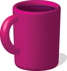 Raspberry mug with drink