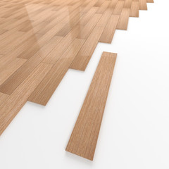 Ash wooden flooring tiles construction
