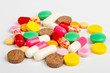 Close up colorful pills