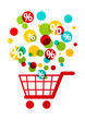 Shopping cart with color circles