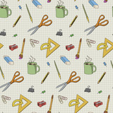 Statonery seamless pattern