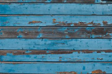blue Grunge wooden background.