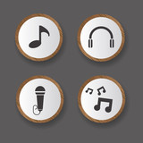 Audio icons,vector