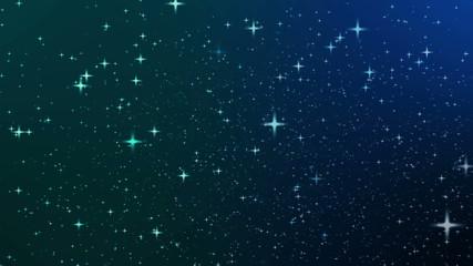 Night sky with star, Full HD loop