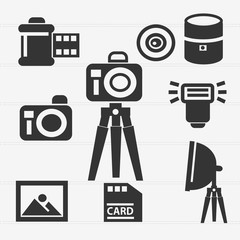 Camera icon set,vector
