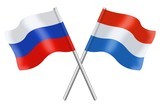 Flags: Russia and Luxembourg