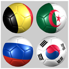 alones con banderas Grupo H Mundial 2014 fútbol