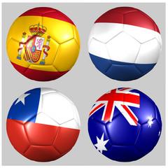 balones con banderas Grupo B Mundial 2014 fútbol