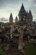 Prambanan Temple on sunset