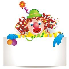 lustiger Clown aus Luftballons