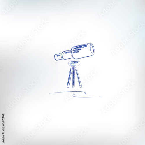 Binoculars drawing,vector