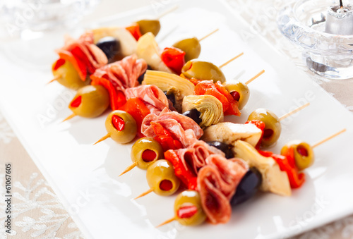 Antipasti skewers