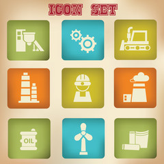 Industry vintage icons,vector
