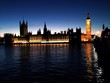 canvas print picture - big ben beleuchtet