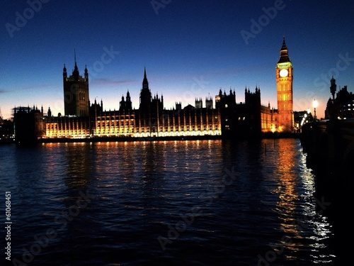 canvas print picture big ben beleuchtet
