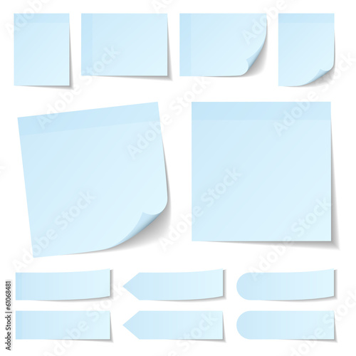 Light Blue Stick Notes Collection