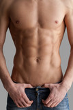 Chiseled chest and abs. poster