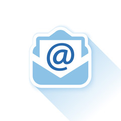 blue mail background