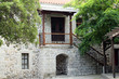 old stone house entrance greece