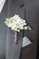 bouquet et veste