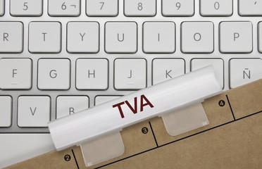 TVA (taxe sur la valeur ajoutée). Clavier