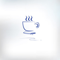 Coffee drawing,vector