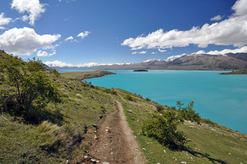 Mount John to Lake Tepako walk, New Zealand.