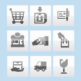 Shopping icon set,vector
