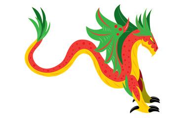 Winged snake dragon