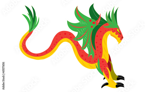 Winged snake dragon