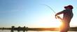 Leinwanddruck Bild - Fishing