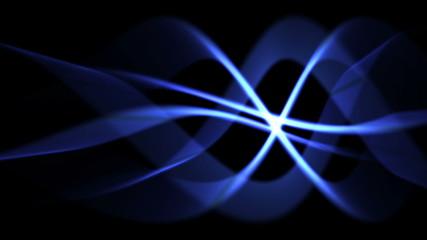 blue light waves in seamless motion (FULL HD)