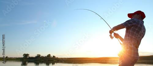 Leinwanddruck Bild Fishing