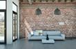 Sofa im Loft