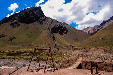 Argentina National Park. Road to Aconcagua