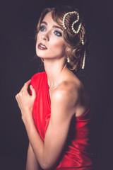 Retro fashion woman of gatsby era
