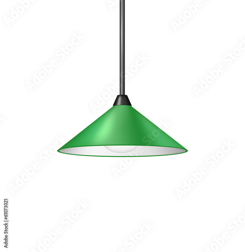 Retro green hanging lamp