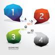 Geometric bubble colorful Modern Design  .