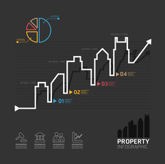 real estate business diagram line style  template for infographi