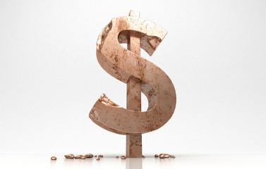 Dollaro, vecchia economia, rovina, crisi, povertà