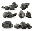 coal isolated on white background